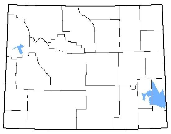 A map of Wyoming with different regions outlined.
