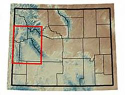 Map of the Bridger-Teton National Forest Catchments